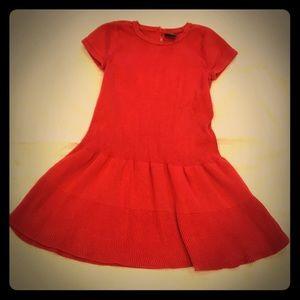 Gap Knit Red Sweater Dress